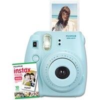 FUJIFILM  NEW Instax Mini 8 Instant Camera W/10 exposure Film Blue