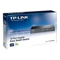 16-port TP-LINK JetStream TL-SG1016DE - Switch - Managed - 16 x 10/100/1000 - rack-mountable