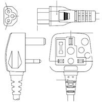 Dell 250 V Power Cord - 3ft