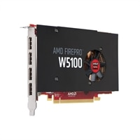 Dell 4GB AMD FirePro W5100 (4 DP) (2 DP to SL-DVI adapters) Full Height Graphic Card