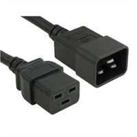 Power Cord, C20 to C19, PDU Style,16A, 250V, 2ft (0.6m), Customer Kit