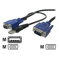 StarTech.com 2-in-1 - Video / USB cable - 4 PIN USB Type A, HD-15 (M) - HD-15 (M) - 3.05 m - black