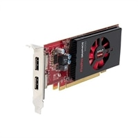 Dell 2GB AMD FirePro W2100 (2 DP) (1 DP to SL-DVI adapter) Graphic Card - Low Profile