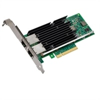 Dell Intel X540 Dual Port 10 Gigabit Base-T Server Adapter Ethernet PCIe Network Interface Card - Low Profile