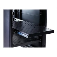 Knürr F-Series Telescopic - Rack shelf - deep black - 1U - 19-inch