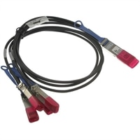 Dell Networking Cable, 100GbE QSFP28 to 4xSFP28 Passive DirectAttachBreakout Cable, 3 Meter, Customer Kit