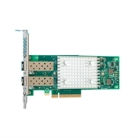 Dell QLogic FastLinQ 41262 Dual Port 25 Gb SFP28 Server Adapter Ethernet PCIe Network Interface Card Full Height, Customer Install