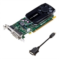 Dell NVIDIA Quadro K620 2GB Half Height (DP, DL-DVI-I) (1 DP to SL-DVI adapter) Graphic Card (KIT)