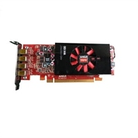 Dell AMD FirePro W4100 2GB Half Height (4 DP) (4 mDP-DP adapters)  Graphic Card