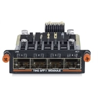 SFP+ 10GbE Module, 4 port, Hot Swap, 4x SFP+ ports (optics or direct attach cables req'd), Customer Kit