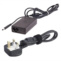 Dell Power Supply + Power Cord : UK 3 Wire 45W AC Adapter with 2M Power Cord for XPS 13 / XPS 12 / XPS 13 MLK