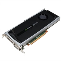 Dell Graphics : 2 GB NVIDIA Quadro 4000 (2DP & 1DVI-I) (1DP-DVI & 1DVI-VGA adapter) (MRGA17H)