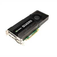 Dell Graphics : 4 GB NVIDIA Quadro K5000 (2DP & 1DVI-I & 1DVI-D) (1DP-DVI adapter) (HEGA18) for Precision T7600 /T3600 /T5600