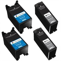 10% off on 2 X Dell V715w High Capacity Black Ink Cartridge Single Use &amp; 2 X Dell V715w High Capacity Colour Ink Cartridge Single Use