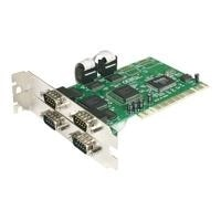 StarTech.com 4 port PCI RS232 Serial Adapter Card with 16550 UART - Serial adapter - PCI - RS-232 - 4 ports