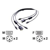 StarTech.com 3-in-1 Universal PS/2 KVM Cable - Keyboard / video / mouse (KVM) cable - 6 pin PS/2, HD-15 (M) - 6 pin PS/2, HD-15 - 3.1 m - for P/N: SV431HGB, SV832DSGB, SV831GB, SV431GB, SV431DGB, SV1632DSGB, SV421DD, SV2