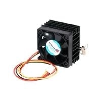 StarTech.com 50x41mm Socket 7/370 CPU Cooler Fan w/ Heatsink and TX3 and LP4 - Processor cooler - ( Socket 370, Socket 7 ) - aluminium - 50 mm - black
