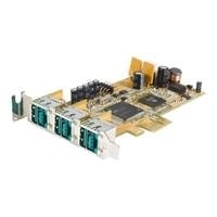 StarTech.com 3 Port LP PCI Express 12V PoweredUSB Adapter Card - USB PlusPower - USB adapter - PCIe low profile - USB, Hi-Speed USB - 3 ports - for P/N: PUSBDYB24V06, PUSBDYB24V10, PUSBDYB24V03