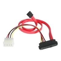 StarTech.com SAS 29 Pin to SATA Cable with LP4 Power - Serial ATA / SAS cable - 4 PIN internal power, 29 pin internal SAS (SFF-8482) - 7 pin Serial ATA - 46 cm - red - for P/N: DRW150SASBK