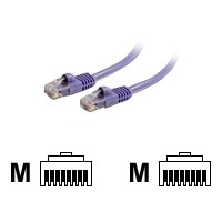 C2G - Patch cable - RJ-45 (M) - RJ-45 (M) - 2 m - CAT 5e - moulded, snagless - purple