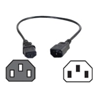 C2G Computer Power Cord Extension - Power extension cable (250 VAC) - IEC 320 EN 60320 C13 - IEC 320 EN 60320 C14 - 0.5 m