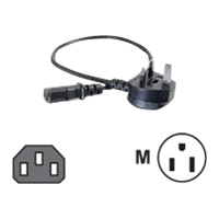 C2G Universal Power Cord - Power cable - IEC 320 EN 60320 C13 - BS 1363 (M) - 2 m - moulded - black