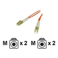Cables to Go - Patch cable - LC multi-mode (M) - LC multi-mode (M) - 10 m - fiber optic - 50 / 125 micron - orange