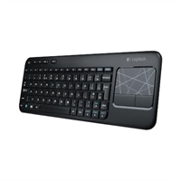 Logitech Wireless Touch Keyboard K400 - Keyboard - wireless - 2.4 GHz - touchpad - USB wireless receiver - UK