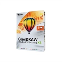 CorelDRAW Home & Student Suite X6 - Complete package - 3 PC in one household - non-commercial - DVD (mini-box) - Win - English - Europe