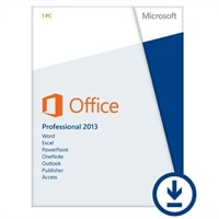 Microsoft Office Professional 2013 - Licence - 1 PC - Download - Win - English - Eurozone - 32/64-bit, delivered via electronic distribution, Click-to-Run - £389.94