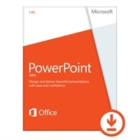 Microsoft PowerPoint 2013 - Licence - 1 PC - Download - Win - English - 32/64-bit, delivered via electronic distribution, Click-to-Run