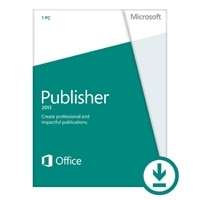 Microsoft Publisher 2013 - Licence - 1 PC - Download - Win - English - 32/64-bit, delivered via electronic distribution, Click-to-Run