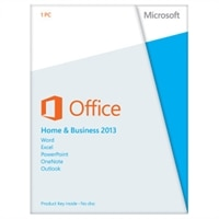 Microsoft Office Home and Business 2013 - Licence - 1 PC - Win - English - Europe - 32/64-bit
