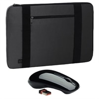 Dell Half Day Sleeve - Fits Laptop with Screen Sizes Up to 15.6-inch and WM311 3-Button Wireless Mouse Bundle