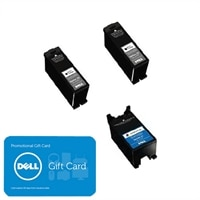 Dell Series 23 3-Pack Ink Bundle: 2 x Single Use High Yield Black Ink Cartridge (Series 23) / 1 x Single Use High Yield Color Ink Cartridge (Series 23) with $15 PROMO eGift Card