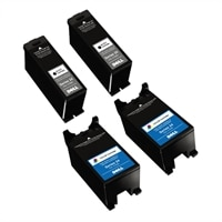 Dell Bundle: 2 x Single Use High Yield Black Cartridge (Series 24) / 2 x Single Use High Yield Color Cartridge (Series 24)
