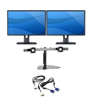 Dell Dell Quantity 2 - Professional P2213 22-inch Monitor with LED and DVI/VGA Monitor Cable Kit wit