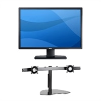 Dell UltraSharp U2412M 24-inch Widescreen Flat Panel Monitor Quantity 2 with 3-Year Warranty and Array Table Stand