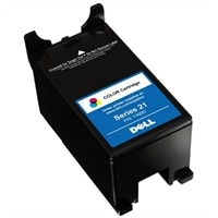 Single Use Standard Yield Color Cartridge (Series 21) for Dell V313/ V313w All-in-One Printer