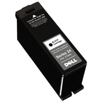 Single Use High Yield Black Cartridge (Series 24) for Dell V715w All-in-One Printer