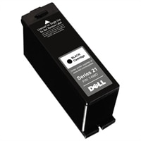 Single Use Standard Yield Black Cartridge (Series 21) for Dell V515w Wireless All-In-One Printer
