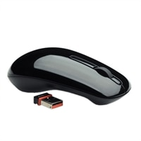 Dell WM311 3-Button Wireless Mouse - Glossy Obsidian Black for Select Dell Systems