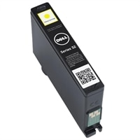 Single Use High Capacity Yellow Ink Cartridge (Series 32) for Dell V525w/ V725w All-in-One Wireless Inkjet Printer