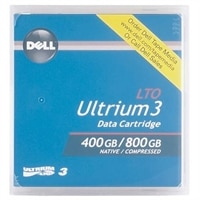 400 / 800 GB Data Cartridge for LTO Ultrium 3 Tape Drives for Select Dell PowerVault Storage - 100-Pack