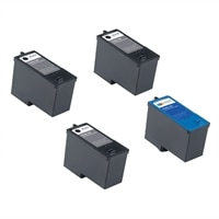 Dell V305/305W 4-Pack Ink bundle: 3 x High Yield Black Ink Cartridge / 1 x High Yield Color Ink Cartridge (Series 9)
