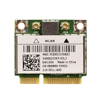 Dell Wireless 1504 WLAN Half Mini-Card for Dell Latitude E5430/ E5530/ E6430s Laptops / Precision M4700/ M6700 Mobile WorkStations