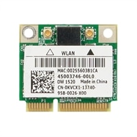 Dell Wireless 1530 PCIe Half Mini Card for Select Dell Systems