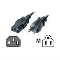 C2G 18 AWG Universal Power Cord - Power cable - IEC 320 EN 60320 C13 (F) - power USA 3-pole (M) - 3 ft - black