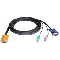 Master View SPHD-15 / 6-pin Mini-DIN / 15-pin HDB KVM Cable - 10 ft