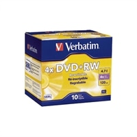 Blank Media DVD plus RW 4.7GB DataLifePlus 4X 10-Pack in Jewel Cases